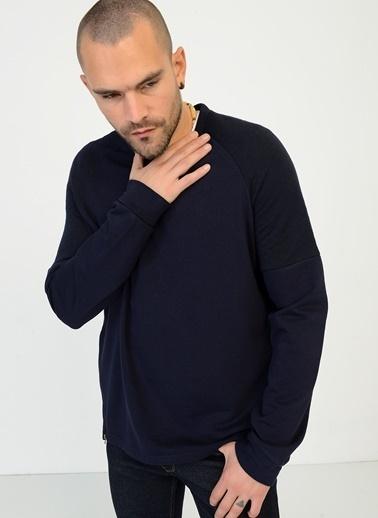 People By Fabrika Fermuar Detaylı Sweatshirt Lacivert
